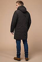 Парку коричнева чоловіча зимова фірмова модель 23675, фото 3