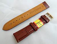 Кожаный ремешок Modeno, цвет коричневый, застежка золотистая