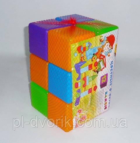 Кубик цветной в сетке 12-эл