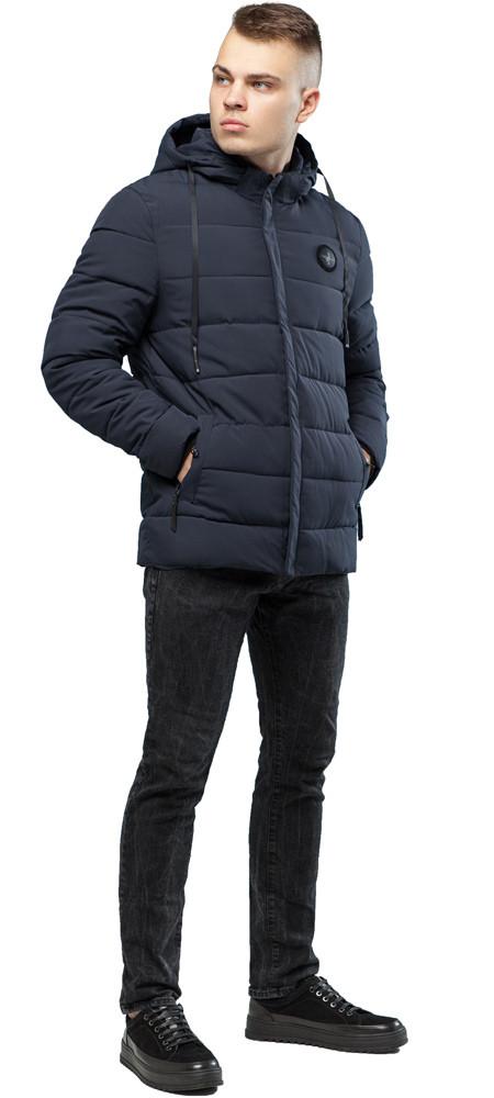 Удобная курточка зимняя для мужчин серая модель 6015