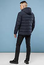 Удобная курточка зимняя для мужчин серая модель 6015, фото 3
