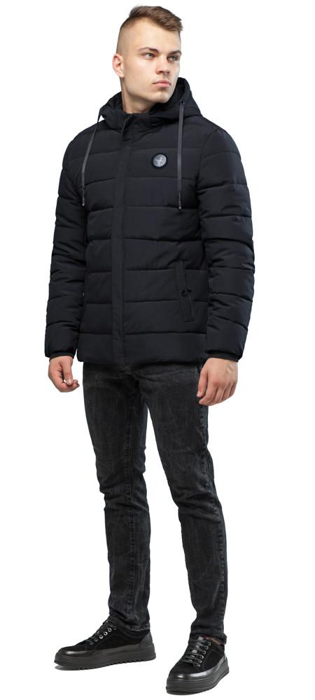 Чорна фірмова чоловіча зимова куртка модель 6015