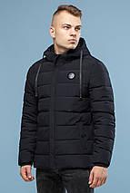 Чорна фірмова чоловіча зимова куртка модель 6015, фото 2