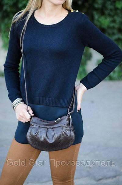 Маленькая кожаная коричневая сумочка