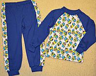 Пижама для мальчиков,яркие миньены,хлопок. рост 122.128.134.140