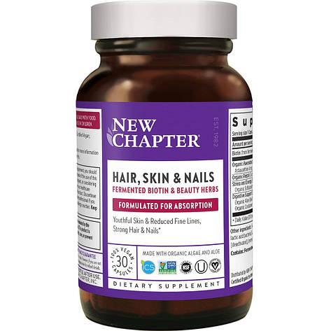 Идеальные волосы, кожа и ногти, New Chapter, 30 вегетарианских капсул, фото 2