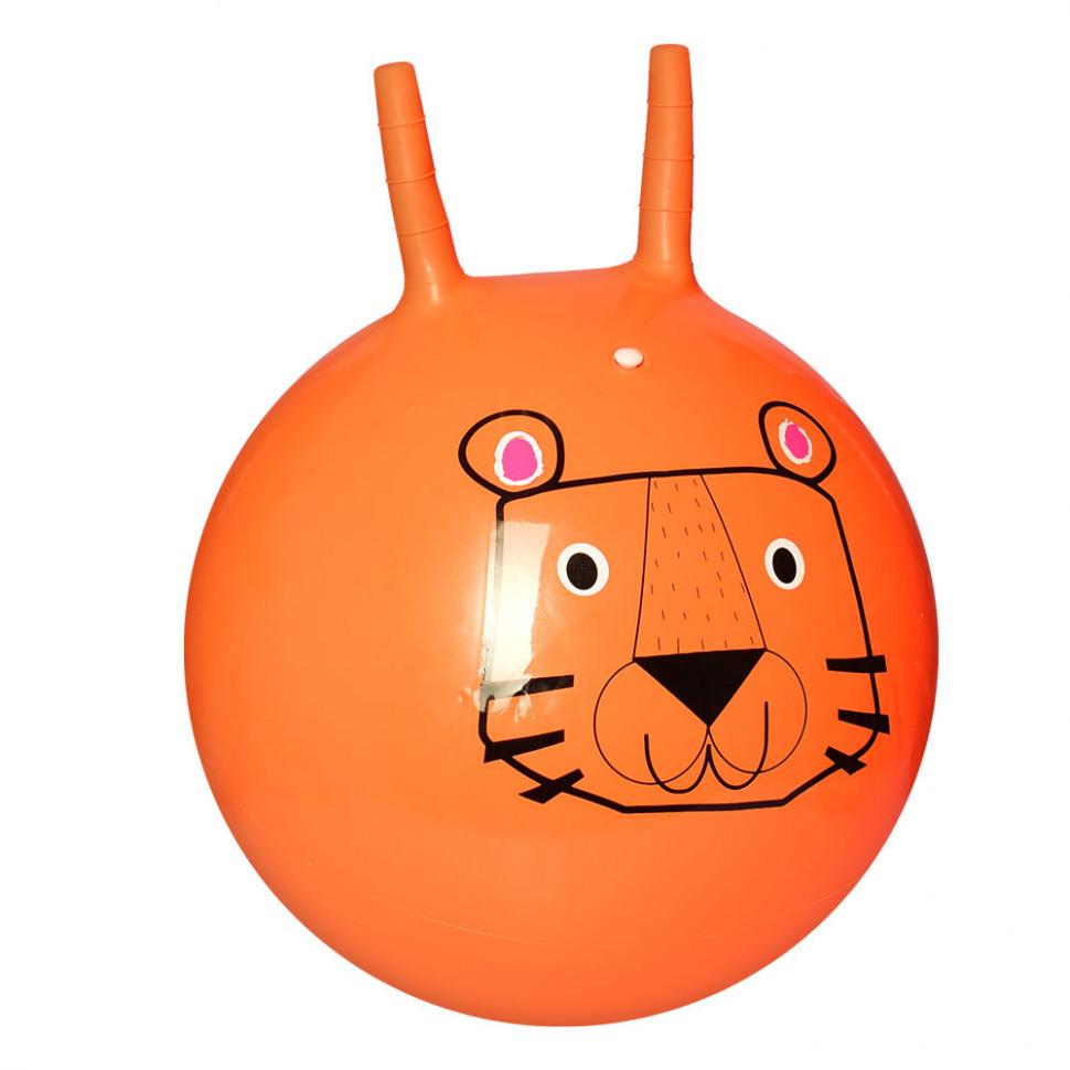 Мяч для фитнеса с рожками (Orange)
