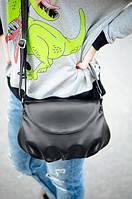 Кожаная черная сумка, фото 1