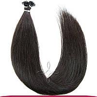 Натуральные славянские волосы на капсулах 45-50 см 100 грамм, Черный №1В