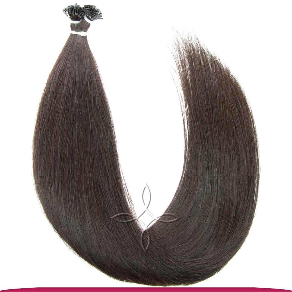 Натуральные Славянские Волосы на Капсулах 50 см 100 грамм, Шоколад №02