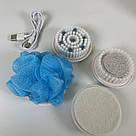 Массажная щетка для тела Spin Spa Brush 5 насадок щетка-массажер для душа спин спа глубокое очищение чистка, фото 8