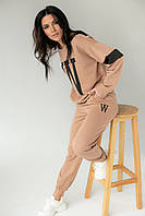 Спортивний костюм в стилі спорт-шик ADVES - кавовий колір, L/XL (є розміри), фото 1