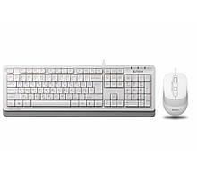 Комплект клавиатура + мышь проводной USB A4Tech FStyler F1010 белый новый