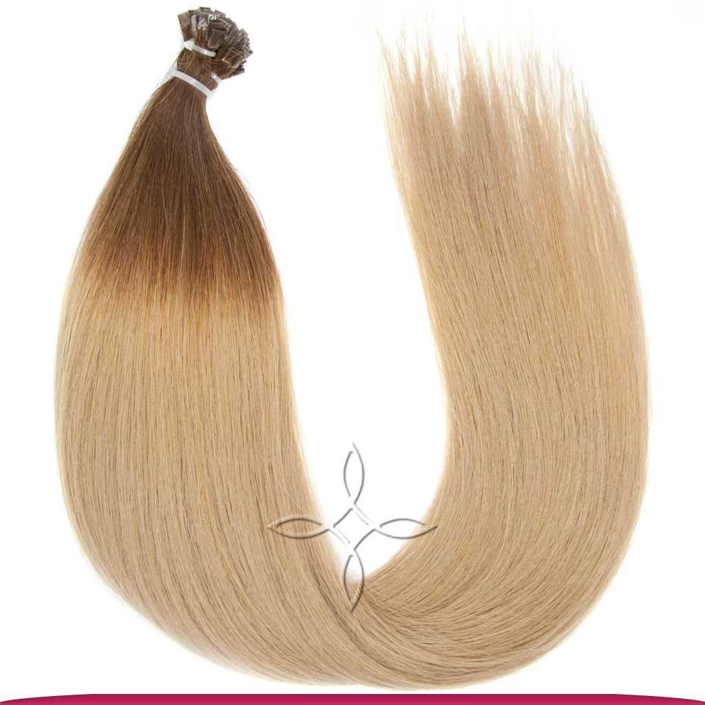 Натуральные Славянские Волосы на Капсулах 60 см 100 грамм, Омбре №5В-18B