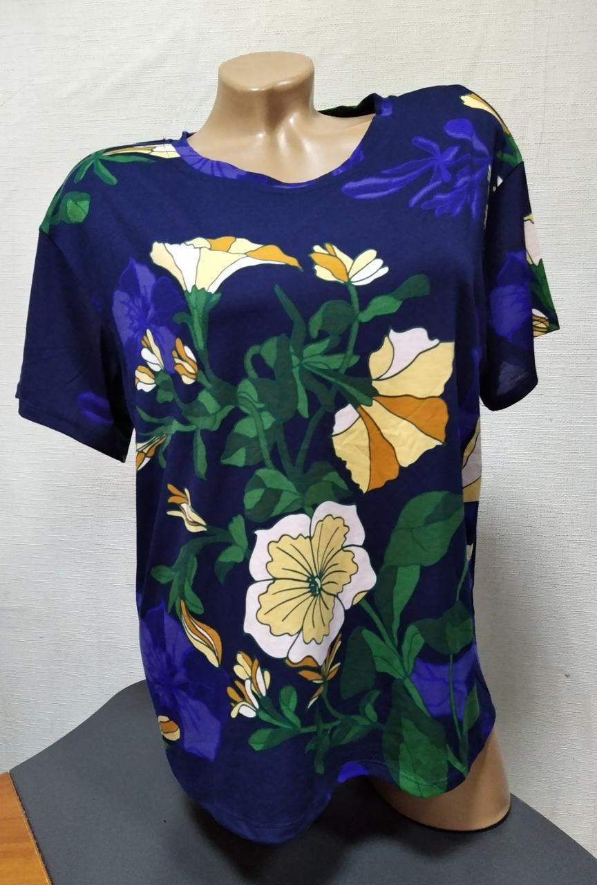Женская футболка Полубатал Цветы