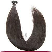 Натуральные Славянские Волосы на Капсулах 60 см 100 грамм, Шоколад №02