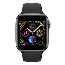 Розумні смарт годинник IWO 10 з вимірюванням тиску Чорний (swlemw54bl)