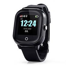 Дитячі смарт-годинник Lemfo DF50 Ellipse Aqua з GPS трекером Чорний (swjetdf50bl)