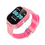 Дитячі смарт-годинник Lemfo DF50 Ellipse Aqua з GPS трекером Рожевий (swjetdf50pink), фото 2