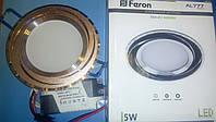 Светодиодный светильник встраиваемый светильник Feron AL777 5w  серебро