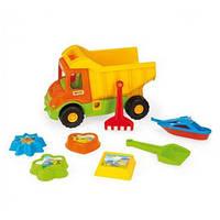 Игрушечный грузовик Multi Truck с набором для песка 8 элементов IML