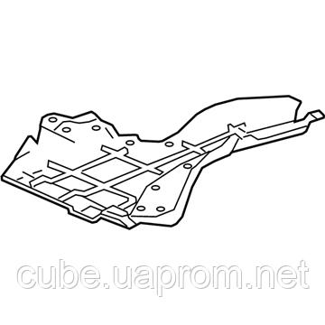 Accord X 74570-TWA-A00 Cover, L. Middle Floor оригинал original  Hybrid защита 74570 TWA A00