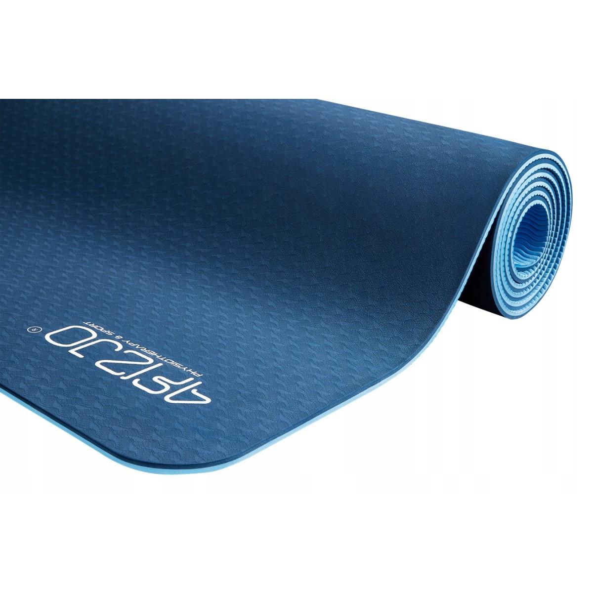 Килимок мат для йоги та фітнесу 4FIZJO TPE 6 мм 4FJ0033 Blue/Sky Blue