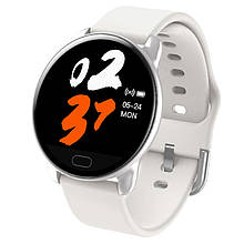 Розумні годинник фітнес браслет Lemfo K9 з вимірюванням серцевого ритму і тиску Білий (swlemk9whit)