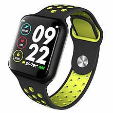 Розумні смарт-годинник Lemfo F8 з тонометром Black-Yellow (swlemf8blye)