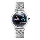 Розумні годинник Linwear LW10 Metal з пульсометром і моніторингом сну Сріблястий, фото 2