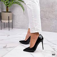 Черные лакированные туфли лодочки, фото 1