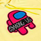 Худи молодежное с капюшоном SmileTime (амонг ас) Gamer, лимонное, фото 2