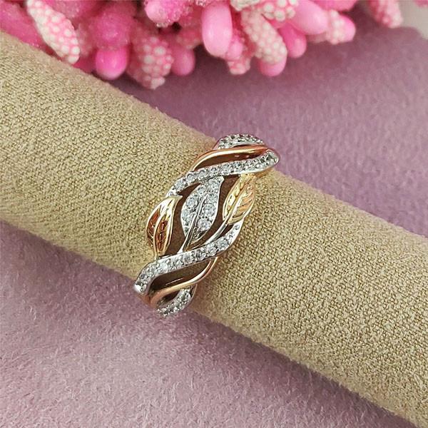 Кольцо Xuping Кити медицинское золото позолота 18К + родий
