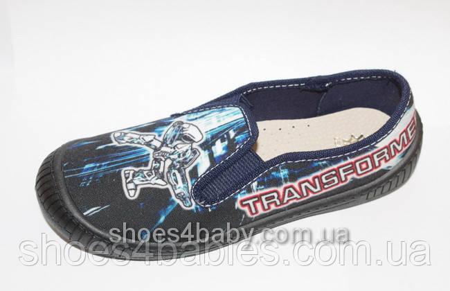 Тапочки текстильные с трансформером для мальчика MB Польша (мокасины, тапки, текстильная обувь)