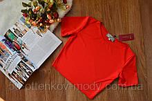 Короткий жіночий топ з коротким рукавом, з 40 по 46рр, 5 кольорів