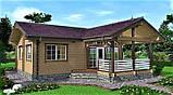 Дерев'яний будинок з профільованого клеєного бруса 10х12 м, фото 2