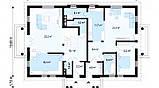 Двоповерховий будинок з профільованого клеєного бруса 17х12 м, фото 2