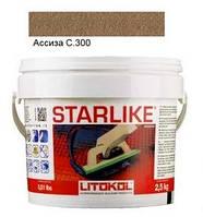Litokol Starlike C.300 ведро 5 кг (асиза), эпоксидная двухкомпонентная затирка Старлайк Литокол