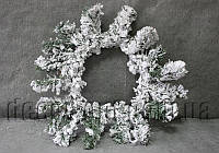 Венок в снегу 35 см OD003