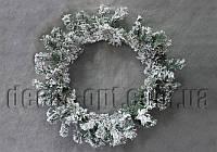 Венок в снегу 65 см OD0017