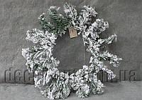 Венок в снегу 40 см OD004