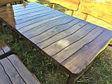 Дерев'яна авторська меблі 2000*1000 з слябів, живий край, ручна робота в стилі Live edge від виробника, фото 2