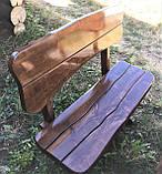 Дерев'яна авторська меблі 2000*1000 з слябів, живий край, ручна робота в стилі Live edge від виробника, фото 4