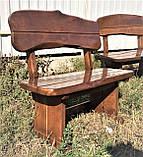 Дерев'яна авторська меблі 2000*1000 з слябів, живий край, ручна робота в стилі Live edge від виробника, фото 5