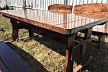 Дерев'яна авторська меблі 2000*1000 з слябів, живий край, ручна робота в стилі Live edge від виробника, фото 6