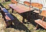 Дерев'яна авторська меблі 2000*1000 з слябів, живий край, ручна робота в стилі Live edge від виробника, фото 7