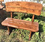Дерев'яна авторська меблі 2000*1000 з слябів, живий край, ручна робота в стилі Live edge від виробника, фото 8