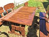 Дерев'яна авторська меблі 2000*1000 з слябів, живий край, ручна робота в стилі Live edge від виробника, фото 9