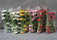 Букет из тканевых бутонов цветов  h1.5 см 10 шт