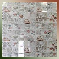 Декоративные панели для ст ПВХ кафельная плитка Романтика 960 х 485мм стеновая вместо обоев на кухню